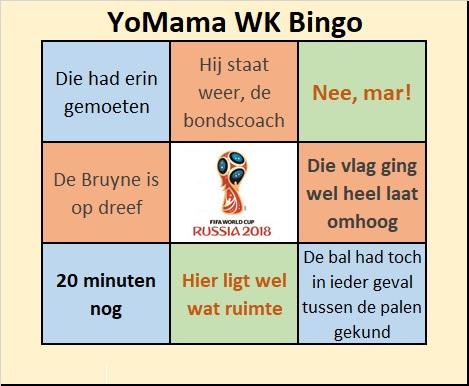 YoMama WK Bingo