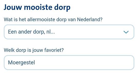 Mooiste dorp van Nederland Moergestel