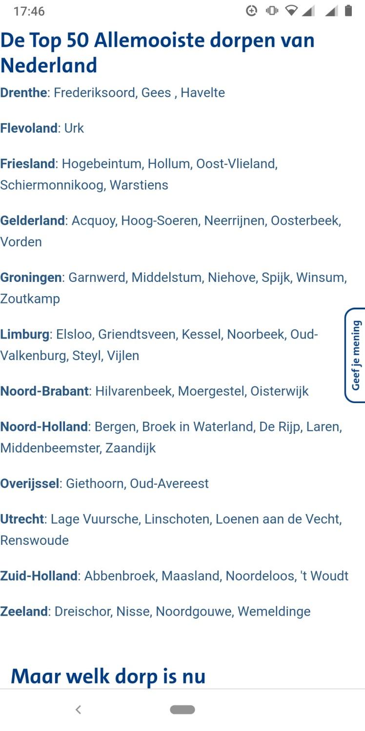 Moergestel Top 3 Brabant Mooiste Dorp ANWB